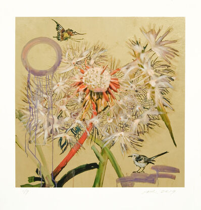 Hung Liu, 'Dandelions with Small Bird', 2019