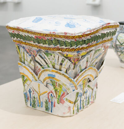 Michael Rakowitz, 'May The Obdurate Foe Not Be In Good Health: White limestone Corinthian capital with two rows of acanthi leaves, Harem, Byzantine period (5th - 6th centuries AD)', 2017