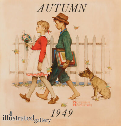 Norman Rockwell, 'Young Love: Walking to School', 1949