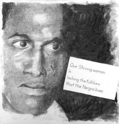 Charles Gaines, 'Franz Fanon wih his words randomly selected to form a sentence', 2010