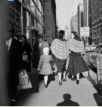 Vivian Maier, 'VM1954W00154-11-MC, Untitled, n.d 2 Women with Fur Shawls', 1954