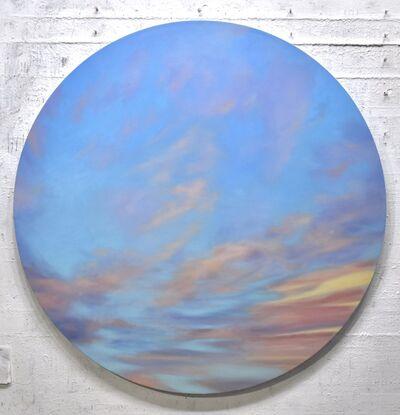 Willard Dixon, 'Windy Sky - circular painting', 2021
