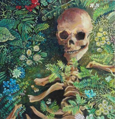 Liu Bing, 'Skull in Grass', 2014