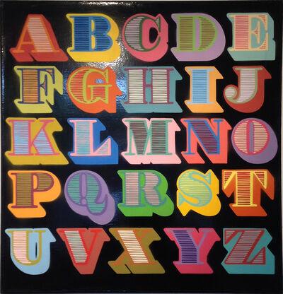 Ben Eine, 'A - Z black (shutter font)'