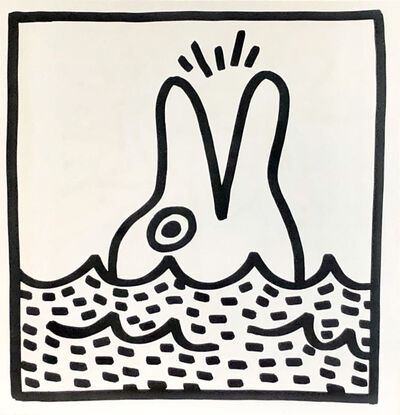 Keith Haring, 'Keith Haring 1982 Dolphin lithograph', 1982