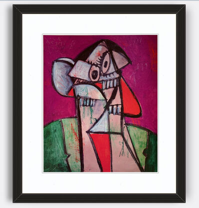 George Condo, 'Self Portrait in Paris 1 poster', 2018