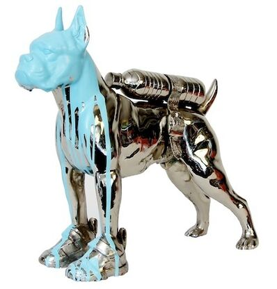 William Sweetlove, 'Cloned bronze bulldog with bottle water', 2011