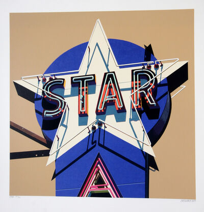 Robert Cottingham, 'American Signs Portfolio (Star)', 2009