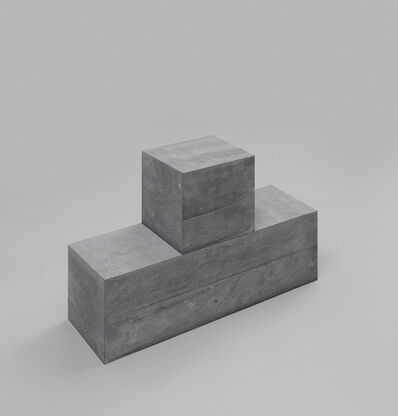 Carl Andre, 'Cube on Block', 2001