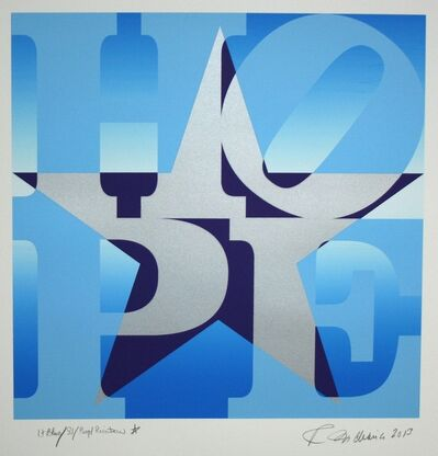 Robert Indiana, 'Star of Hope (Light Blue/Silver/Purple)', 2013