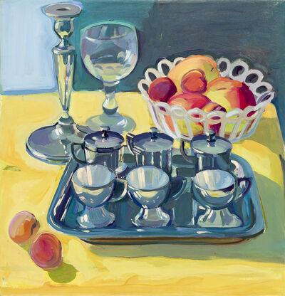 Maria Lassnig, 'Silbernes Teeservice/Geburtstagsbild', c. 1972