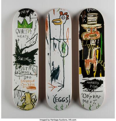 Jean-Michel Basquiat, 'Quality Meats for the Public, triptych', 2014