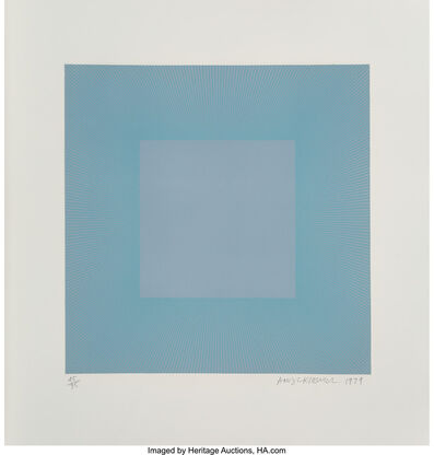 Richard Anuszkiewicz, 'Winter Suite (Light Blue with Light Blue)', 1979