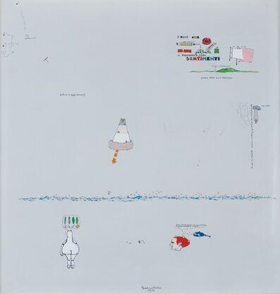Gianfranco Baruchello, 'E dice che la pittura è la filosofia dei sentimenti', 1976