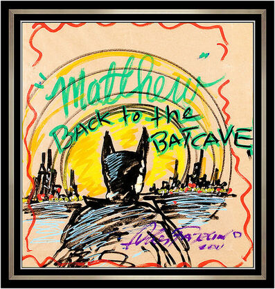 Charles Fazzino, 'Charles Fazzino Original Acrylic Painting Batman Batcave Pop Modern Signed Art', 2011