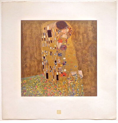 Gustav Klimt, 'The Kiss', 1908-1914