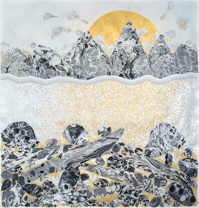 """Crystal Liu, 'the moon and the tides, """"a rocky start""""', 2017"""