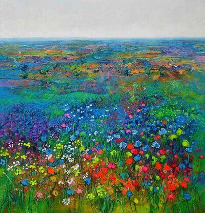 Ulpiano Carrasco, 'Campo azul', 2020