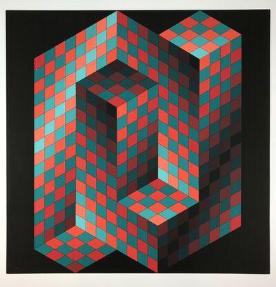 Victor Vasarely, 'Izzo-Rouge-Vert', 1970
