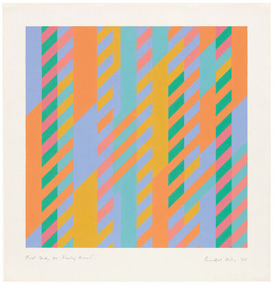 Bridget Riley, 'First Study for Fleeting Moment', 1986