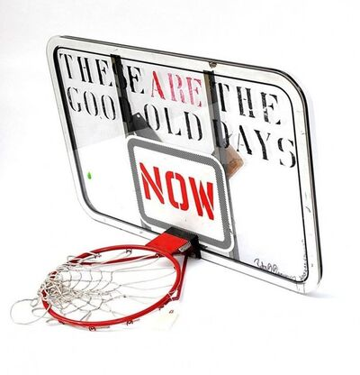 Peter Tunney, 'Stencilled, Stencil Painted basketball Hoop Sculpture signed and dated', 2000-2009