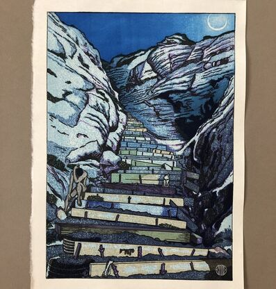 Paul Binnie, 'The Steps at Black's Beach: Moonlight', 2020