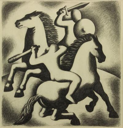 Emil Bisttram, 'The Combat', 1932