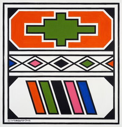 Esther Mahlangu, 'Ndebele Abstract - C000977', 2019