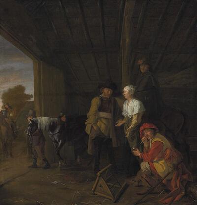 Ludolf de Jongh, 'Paying the hostess'