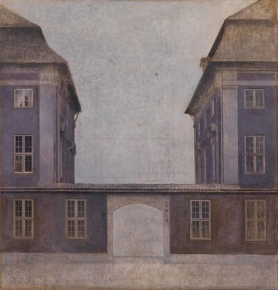 Vilhelm Hammershøi, 'The Buildings of the Asiatic Company, seen from St. Annæ Street, Copenhagen', 1902