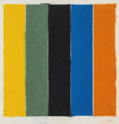 Ellsworth Kelly, 'Colored Paper Image XIII (Yellow/Green/Black/Blue)', 1976