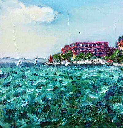 Norma de Saint Picman, 'Water paintings Summer 2019 - plein air in situ paintings - Hotel Bernardin', 2019