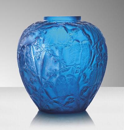 René Lalique, ''Perruches', a vase, no. 876', designed 1919