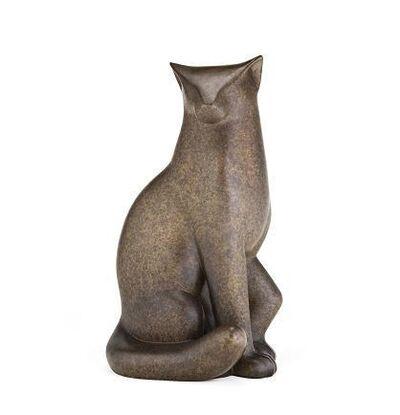 Gwynn Murrill, 'Bronze Marble Sitting Cat'