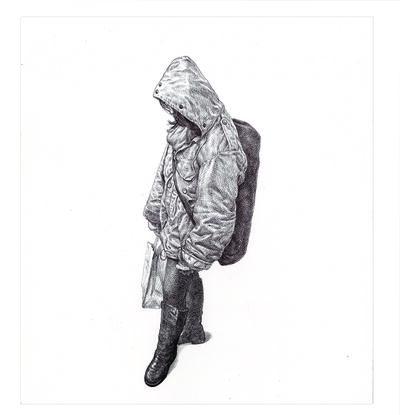 Guno Park, 'MTA Rider (Big Coat Girl)', 2016