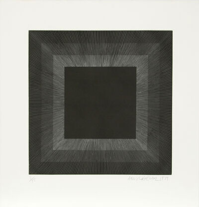 Richard Anuszkiewicz, 'Midnight Suite (Black with Silver)', 1979