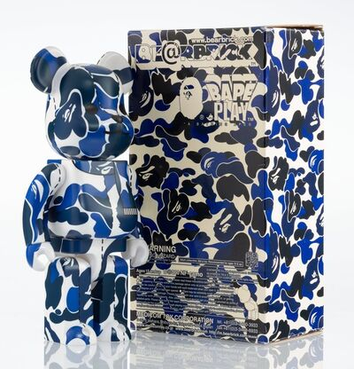 BE@RBRICK X BAPE, 'BAPE Play Camo 400% (Blue and White)', 2008