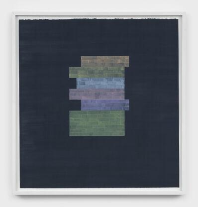Julia Fish, 'Study for Threshold — Plan, excerpt/s : sleepwalker [ spectrum stack, west to east when west is green ]', 2017
