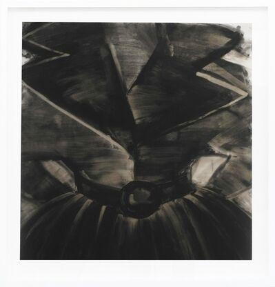 Cathy Daley, 'Rebel Dress - black, feminine, fashion, oil pastel on vellum', 2017