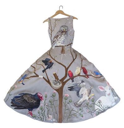 Chris Roberts-Antieau, 'Birds of Prey Dress - Grey', 2016