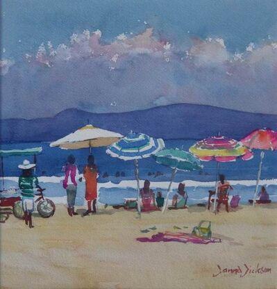 Donna Dickson, 'Sombrillas at the Beach'