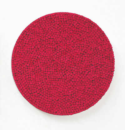Reiner Seliger, 'Kreidebild rot, mittel', 21st century