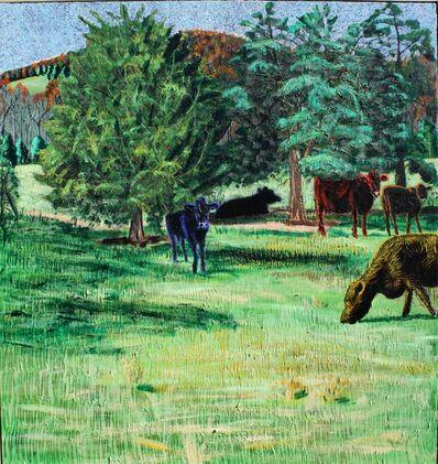 John Borden Evans, 'Five Cows at Night ', 2018