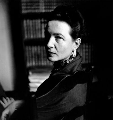 Elliott Erwitt, 'Simone de Beauvior', 1949