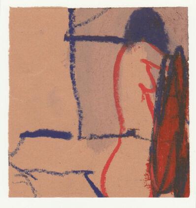 Karl Bohrmann, 'Roter Akt von der Seite mit Lampe', 1995