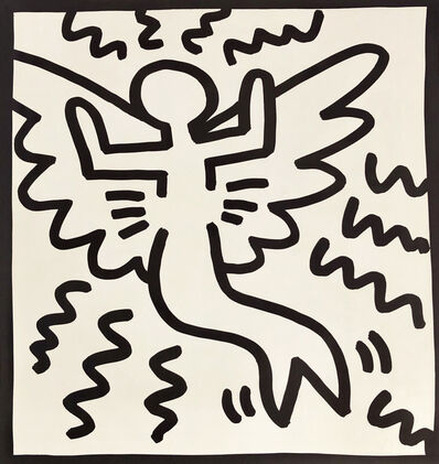 Keith Haring, 'Keith Haring (untitled) angel lithograph 1982', 1982