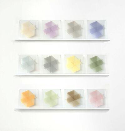 Elaine Reichek, 'Parallelograms (Pastel)', 1977