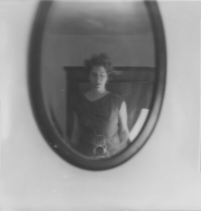 Jaclyn Kain, 'Self Portrait (in the oval mirror)', 2016
