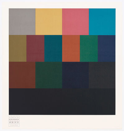 Sol LeWitt, 'All One, Two, Three, & Four-Part Combinations of Four Transparent Colors', 1985