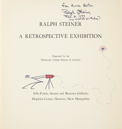 Ralph Steiner, '[SIGNED PHOTOBOOKS] Two volumes inscribed to Anne Horton'